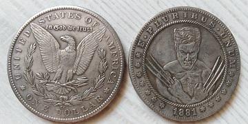 USA 1 dollar 1881 X-MAN tulácký *137d