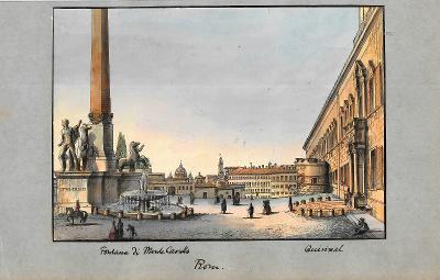 Lept, cca 1860, kolorováno akvarelem 14x19,5 cm Itálie