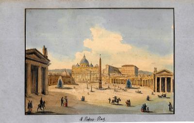 Lept, cca 1860, kolorováno akvarelem 13x19 cm Itálie