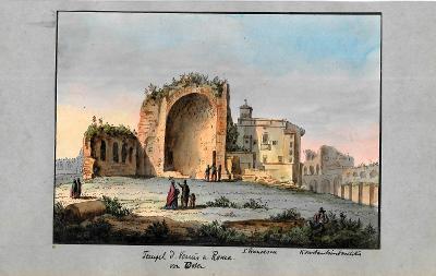 Lept, cca 1860, kolorováno akvarelem 14 x 19 cm Itálie