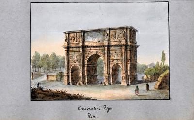 Lept, cca 1860, kolorováno akvarelem 13  x 19 cm Itálie