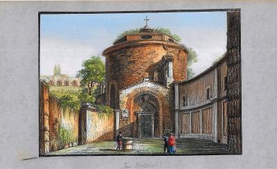 Lept, cca 1860, kolorováno akvarelem 13  x 18,5 cm Itálie