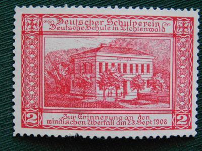 1900 - 1918 - Zálepka: Škola - Schule in Lichtenwald