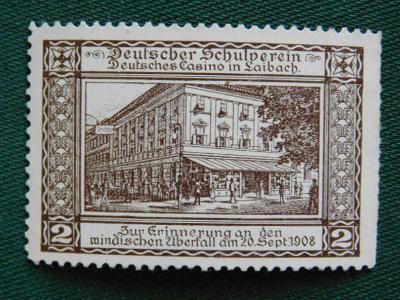 1900 - 1918 - Zálepka: Casino in Laibach