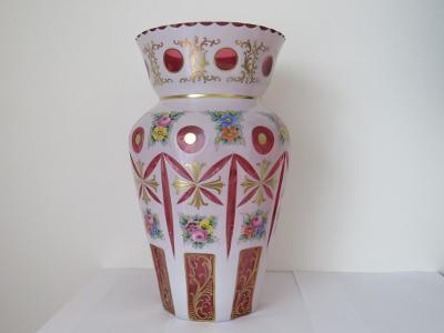 Velmi pěkná starožitná váza  výška 31 cm dokonalý stav.