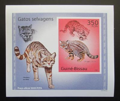 Guinea-Bissau 2010 Kočkovité šelmy DELUXE neperf Mi# 5041 B Block 1482