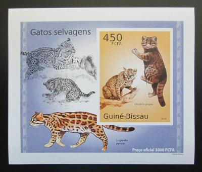 Guinea-Bissau 2010 Kočkovité šelmy DELUXE neperf Mi# 5042 B Block 1482