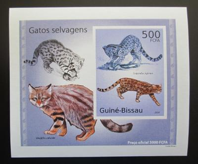 Guinea-Bissau 2010 Kočkovité šelmy DELUXE neperf Mi# 5043 B Block 1482