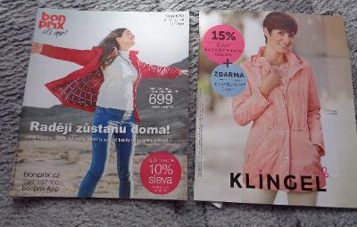 2x Katalog - Bonprix 2019, Klinger 2016 - Jedna cena za oba --1Kč--
