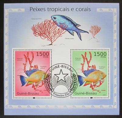 Guinea-Bissau 2010 Ryby a korály Mi# Block 873 12€ 1487