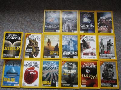 časopis National Geographic 2001 a 2011 komplet + 29 dalších 2003-17