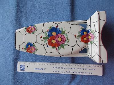 Porcelán váza malovaná velmi stará značená dekorativní netradiční kus