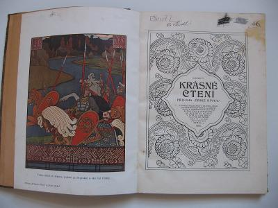 Krásné čtení ročník IV. 1911 příloha České dívky