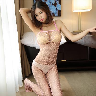 Sexy spodní prádlo- síťované body- světle růžová - 2781.