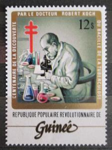 Guinea 1983 Dr. Robert Koch s mikroskopem Mi# 950 Kat 3€ 1474