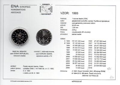 1 Kč 1995 XF s kartou ENA (c) 2017