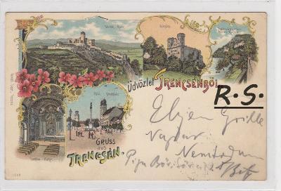 Trenčín 1897 - litografie ,  /FX/