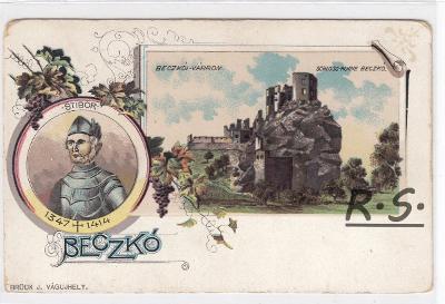 Beckov -  Nové Mesto nad Váhom , litografie , koláž , /FX/