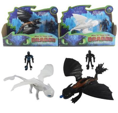 Jak vycvičit draka - figurka + drak, 2 druhy