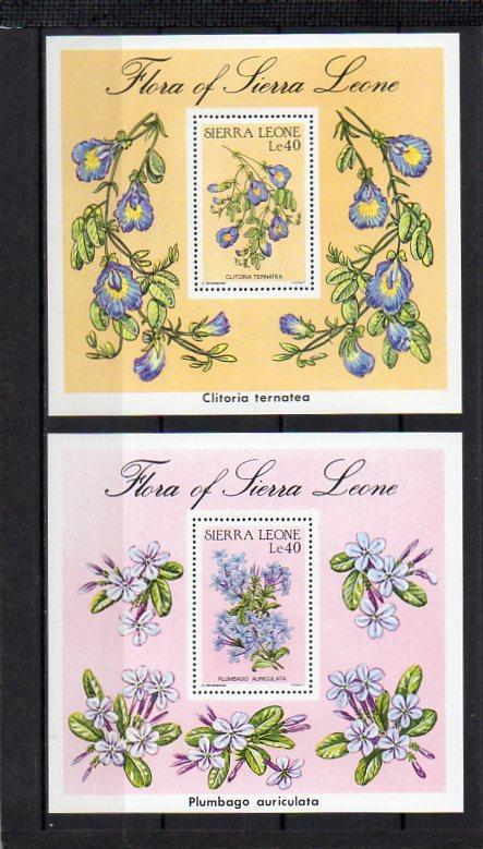 Sierra Leone-Flóra 1986**  Michel Bl.48+49 / 10 € - Filatelie