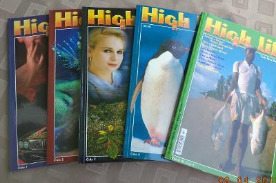 5x  časopis  HIGH LIFE - roč. 1995  - revue pro náročné