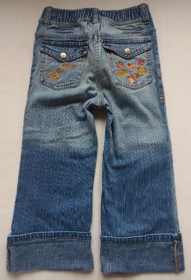 Dívčí džíny s výšivkou vel. 116 - Oblečení
