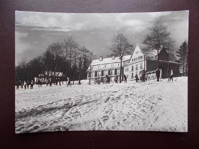 Frýdek Beskydy Kunčice pod Ondřejníkem Zotavovna ROH chata lyže zima