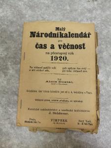 Malý národní kalendář (na prestupny rok 1920)