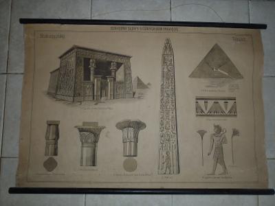 Školní plakát architektura - Egyptský sloh
