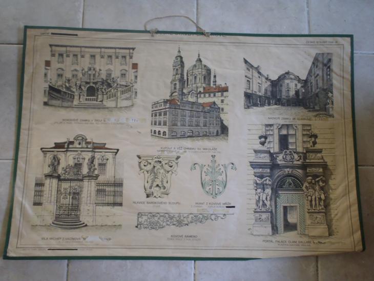 Školní plakát architektura - České stavby - Antikvariát