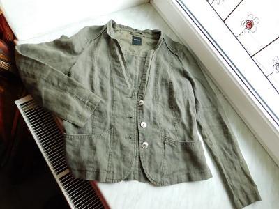 Krásné khaki lněné sáčko zn. Bonita, vel.38