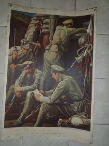 Školní plakát Vojáci u Zborova , válka ,