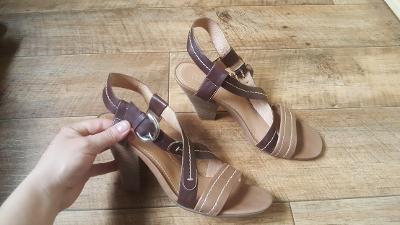 kožené  sandálky 5th Avenue vel. 41