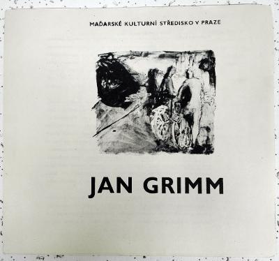 JAN GRIMM - pozvánka (1979)