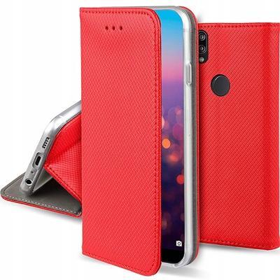 Flipové červené magnetické polohovací pouzdro obal pro Huawei Nova 3
