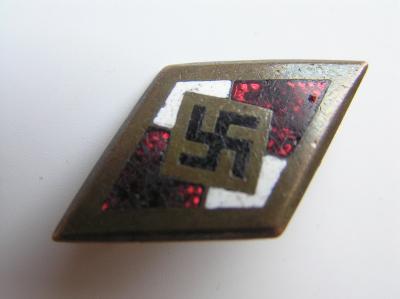 Zlatý čestný odznak HJ s nízkým číslem