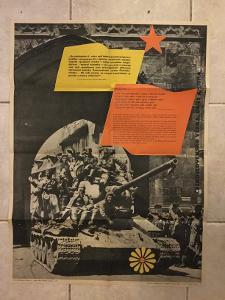 plakát Tank , osvobození Prahy