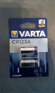 Varta CR123A Lithium 2 kusy
