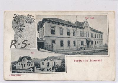 Zdounky 1909 - Kroměříž ,  /FX/