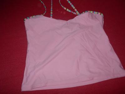 vrchní díl plavek ružové-tílko