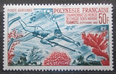 Francouzská Polynésie 1965 Lovec s harpunou Mi# 48 Kat 100€ 0757