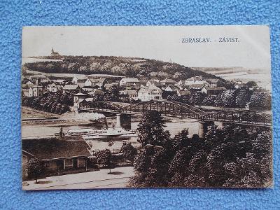 Praha Zbraslav Závist Vltava parník železniční most