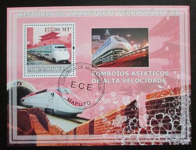 Mosambik 2009 Rychlovlaky Mi# Block 252 Kat 10€ 1353