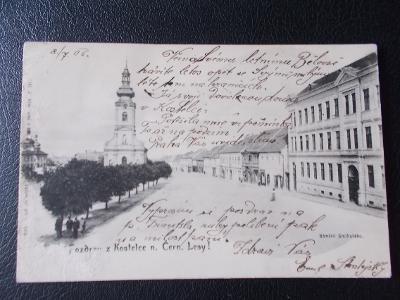 Praha východ Kostelec nad Černými lesy kostel náměstí
