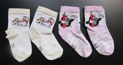 Dívčí ponožky - Krtek, Křemílek a Vochomůrka, vel. 12-16