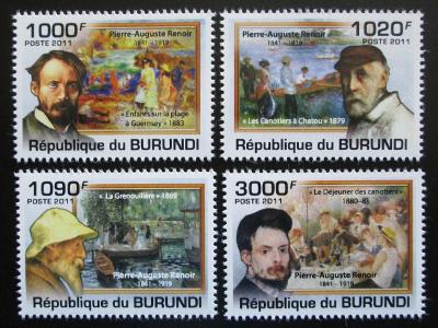Burundi 2011 Umění, Renoir Mi# 2130-33 Kat 9.50€ 1544