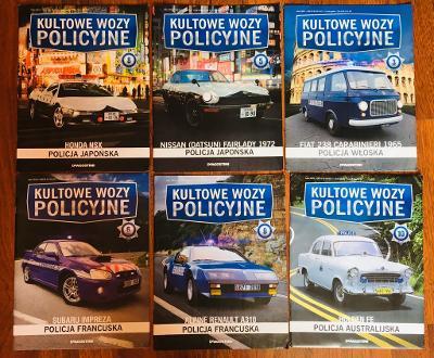 Časopisy Kultowe Wozy Policyjne - kolekce modelů 1:43
