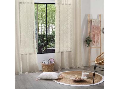 Záclona stylová polyesterová s kosočtvercovým vzor