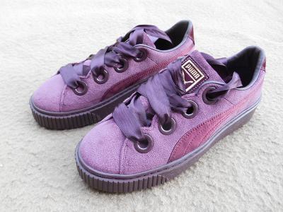 Nové dívčí boty - tenisky zn.:  PUMA Platform Kiss Velvet, vel. 39