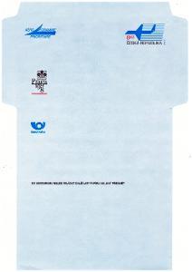 POF. CAE 1 - AEROGRAM 1998, TMAVŠÍ ODSTÍN PODTISKU + VV SKVRNA (T7857)